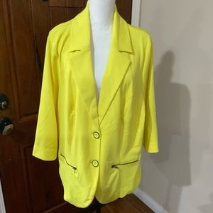 Neon Yellow Blazer